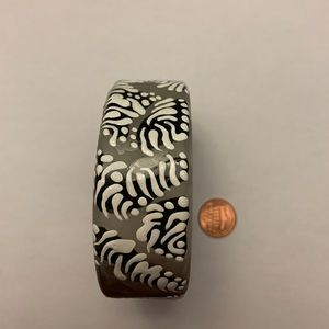 Hand painted one of a kind wooden bangle bracelet